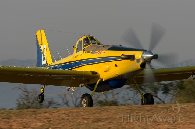 """AIR TRACTOR Fire Boss (ZS-TFH) - Air Tractor AT-802A landing at Nelspruit Airfield. This is the home base for the """"Working on Fire"""" fire prevention action group. They also operate Huey UH-1"""