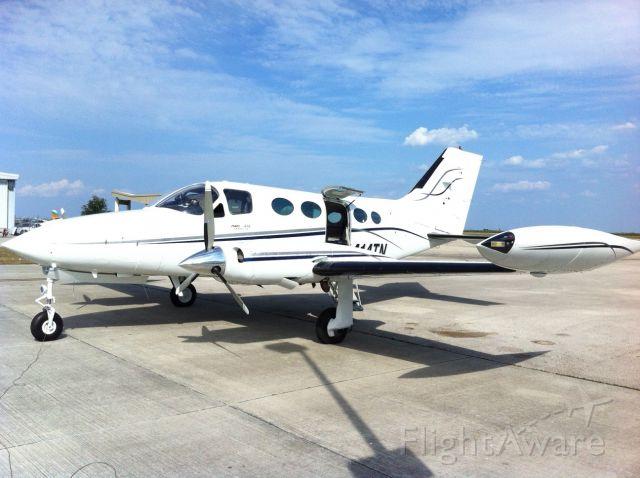 Cessna Chancellor (N414TN) - New Paint!  Fuel Stop.