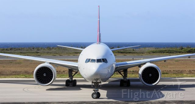 BOEING 777-200LR (TC-LJM) - Turkish airlines cargo taxing for parking at TNCC Hato Curacao.