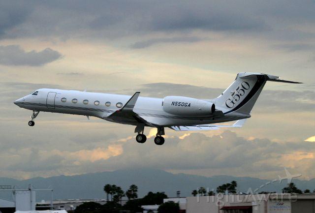 Gulfstream Aerospace Gulfstream V (N550GA) - Departs Long Beach for a short test flight on a cloudy afternoon.