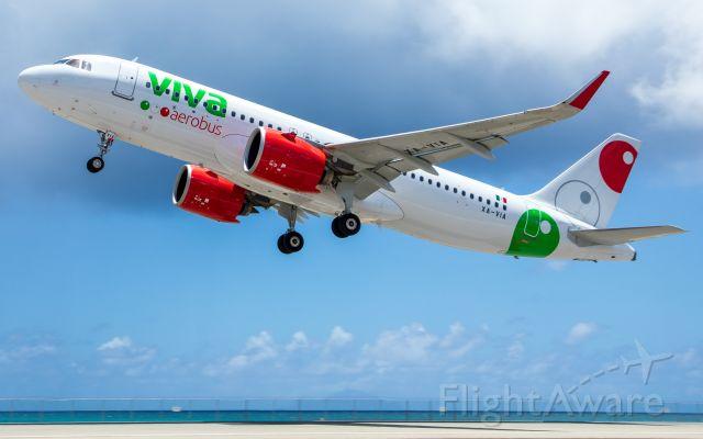 XA-VIA — - Departed St. Maarten for Cancun, Mexico