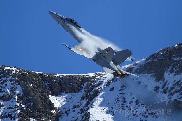 McDonnell Douglas FA-18 Hornet (J5023) - Axalp shooting range / CH