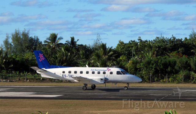 E5-TAI — - A Embraer EMB 110 Bandeirante arriving in Rarotonga