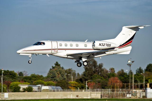 Embraer Phenom 300 (N327QS) - N327QS, Embraer Phenom 300 landing at KLGB