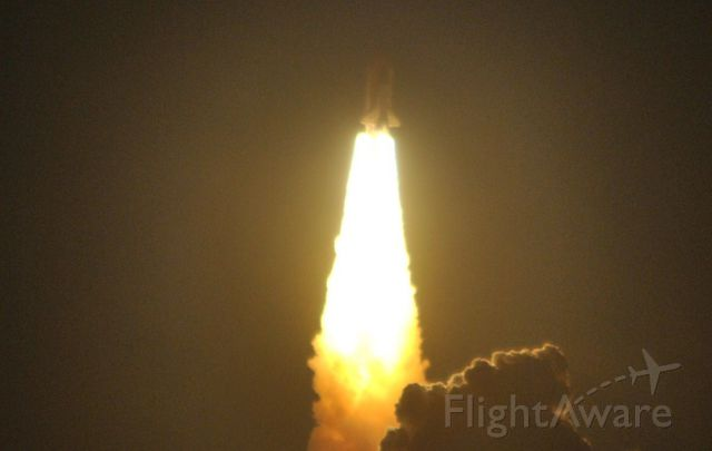 — — - Space Shuttle Endeavour on last Shuttle Night Launch, STS-130 from Pad 39A at Kennedy Space Center Feb 2010...