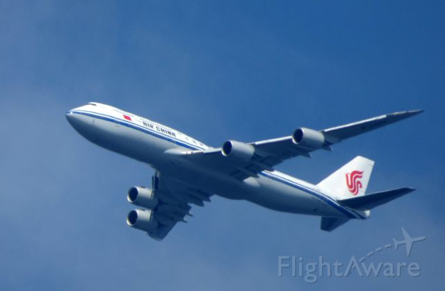 BOEING 747-8 (B-2480) - Shown here is a Air China Boeing 747-8 a few minutes until landing in the Summer of 2017.