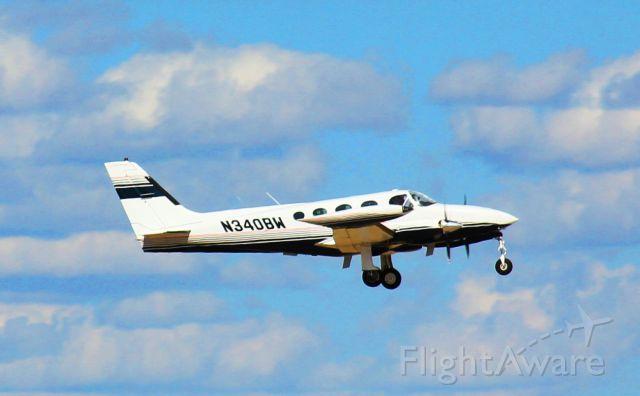 Cessna 340 (N340BW) - Departing San Angelo, Texas