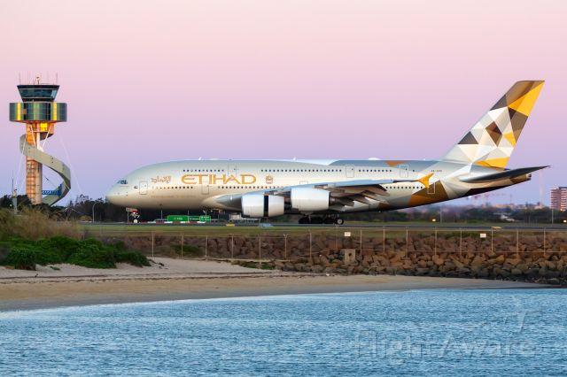Airbus A380-800 (A6-APG) - EY454/ETD454 fr. AUH Abu Dhabi, SYD/YSSY 01/10/2018