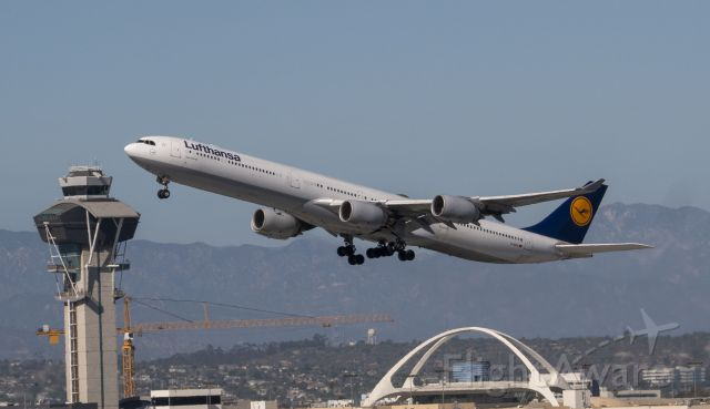 Airbus A340-600 (D-AIHX) - Beautiful day time take-off from Clutters Park