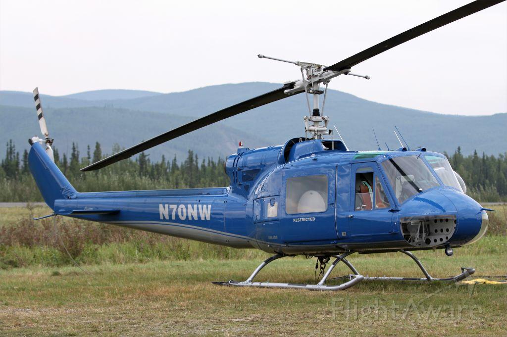 N70NW — - UH-1B at Nenana helitack base in July 2009.