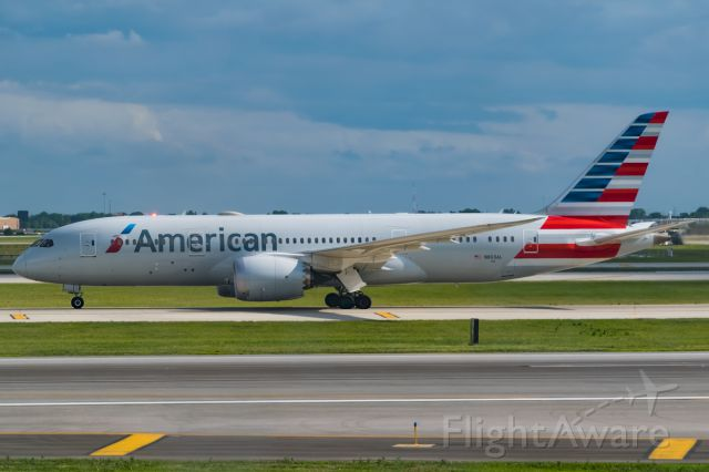 Boeing 787-8 (N803AL) - American Airlines Dreamliner sitting on the taxiway awaiting its turn for takeoff