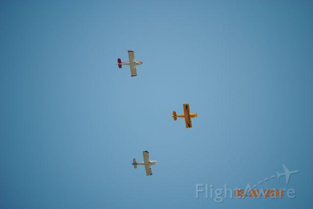 AII AVA-202 (N515DB) - 3 RV-6 flying in formation.