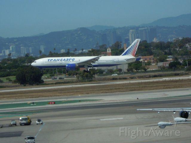 Boeing 777-200 — - TRANSAERO AIRLINES 777-200 LAX