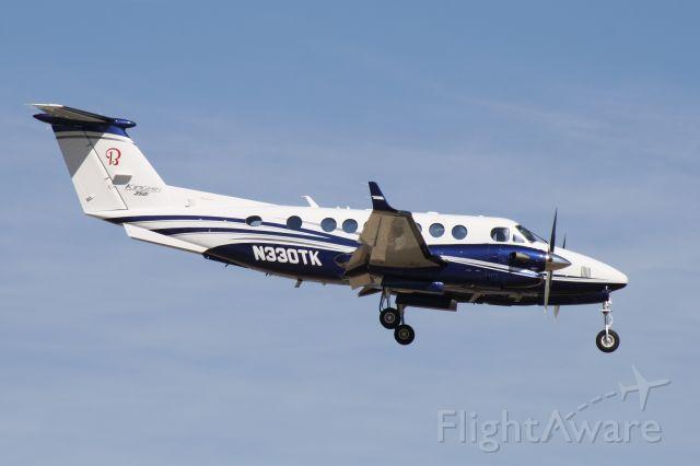 Beechcraft Super King Air 350 (N330TK) - Landing at John Wayne Airport, July 5 2018.