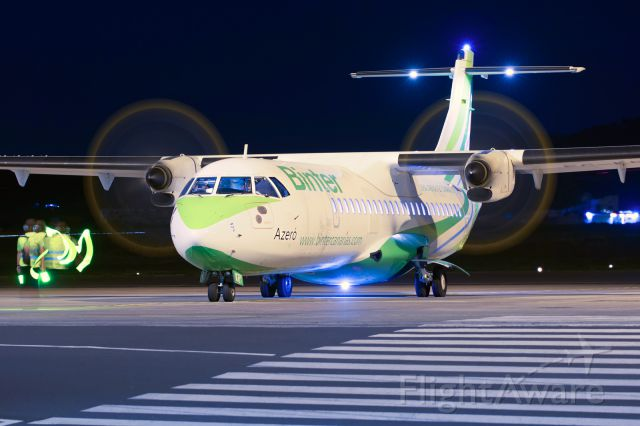 ATR ATR-72 (EC-KRY) - For the first time in Tenerife North, held an open day in late night hours, simple and perfect, an experience without limits, to thank Aena and its staff for their support.<br />10/03/2017