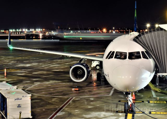 """Airbus A321 (N972JT) - """"Just Plane Blue"""" awaiting for departure in JFK"""