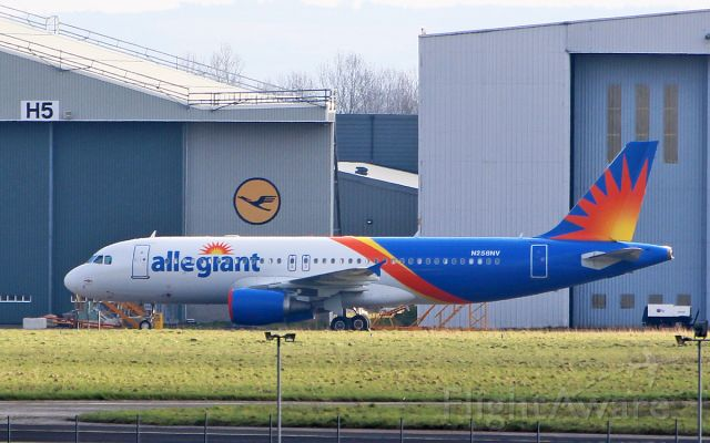 Airbus A320 (N258NV) - allegiant air a320-14 n258nv at shannon 22/2/18.