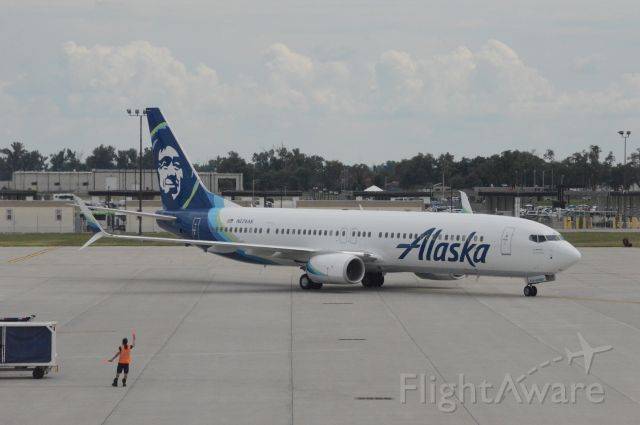 Boeing 737-900 (N274AK) - Alaska Airlines flight 718 is pulling into Gate A9 at 3:33 PM CDT.   This flight was flown on what was then Alaska