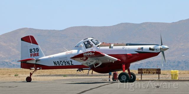 AIR TRACTOR Fire Boss (N809NZ) - CO Fire Aviation's SEAT (Single Engine Air Tanker) #839 (N809NZ) is back at Reno Stead to take on another load of retardant to drop on the Loyalton Fire burning northwest of Reno and west of RTS.