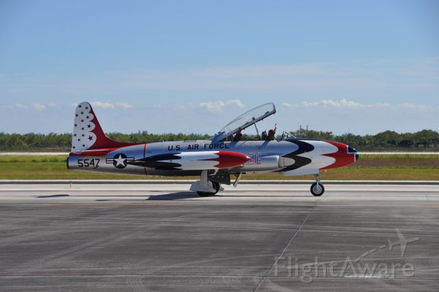 NX556RH — - T-33A built in 1958 at the Homestead Air Reserve Base show 11/3/2012