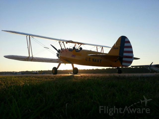 Boeing PT-17 Kaydet (N4428N) - Early morning flight for the Stearman at the Thomasville Fly-in!