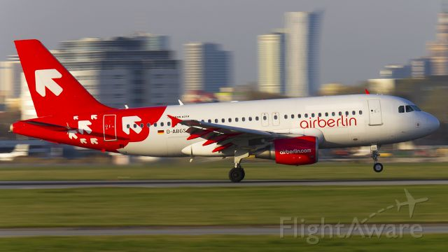 Airbus A319 (D-ABGS) - The aircraft still in painting after OLT Express.