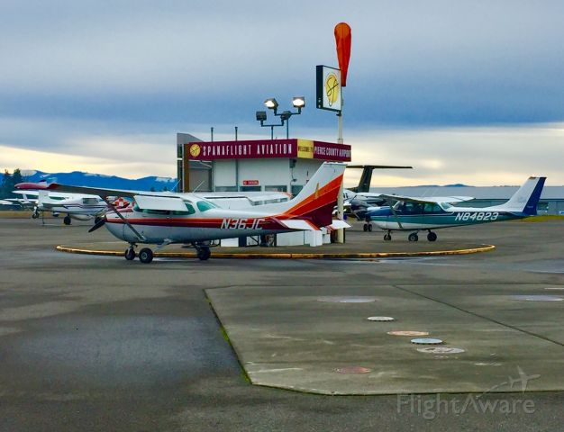 Cessna Skyhawk (N84823) - N84823 fuels up alongside N36JC. Both aircraft belong to Safety-in-Motion Flight School.