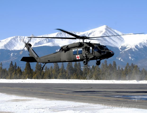 — — - Mile High Dustoff!  This UH-60 came to Leadville to do some high altitude training from the HAATS facility in Eagle, CO.