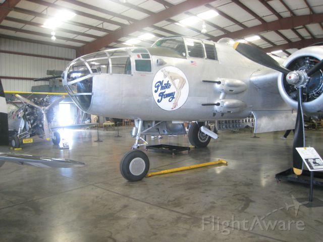 — — - B-25J Photo Fanny at Chino