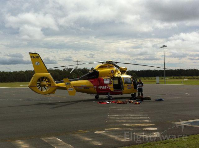 Aerospatiale Dauphin 2 (SA-365C) (VH-LRH) - Westpac rescue chopper after a rescue.