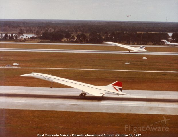 Aerospatiale Concorde — - Photos used by permission .Credit:Orlando Int Airport .I was always fascinated by theses .I used to spot them at 48 t ft when it flew from Mia to Wash .