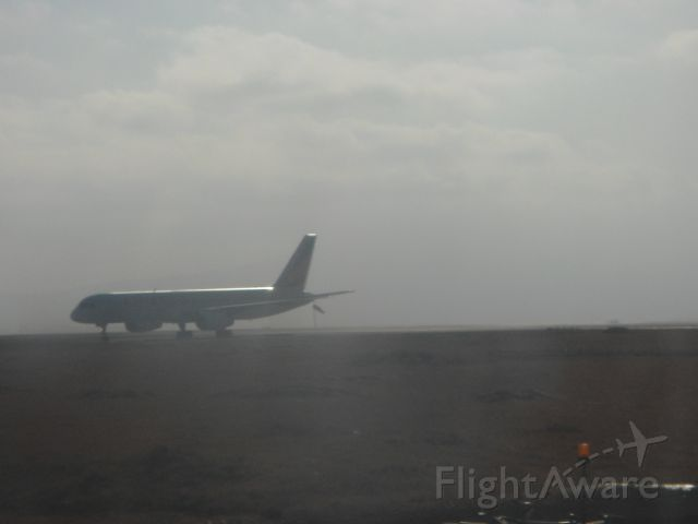 — — - Taking off at dusk from Addis Ababa International