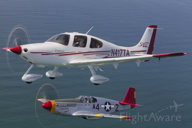 Cirrus SR-22 (N417TA) - Formation flying with Red Tail P-52C