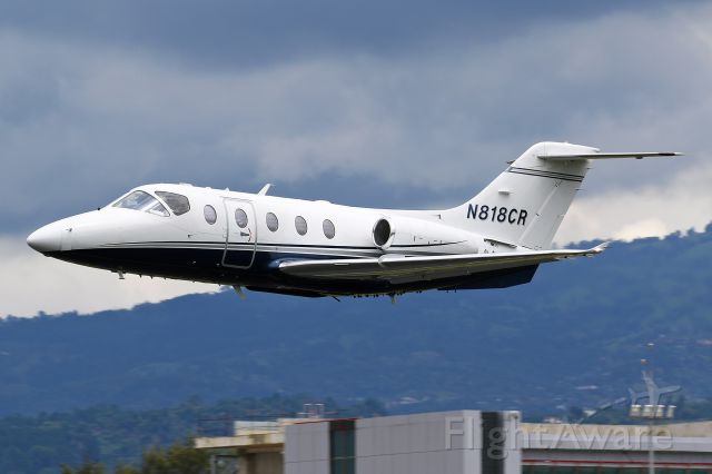Beechcraft Beechjet (N818CR) - N818CR departing on a repositioning flight to Pavas and a nice low departure.