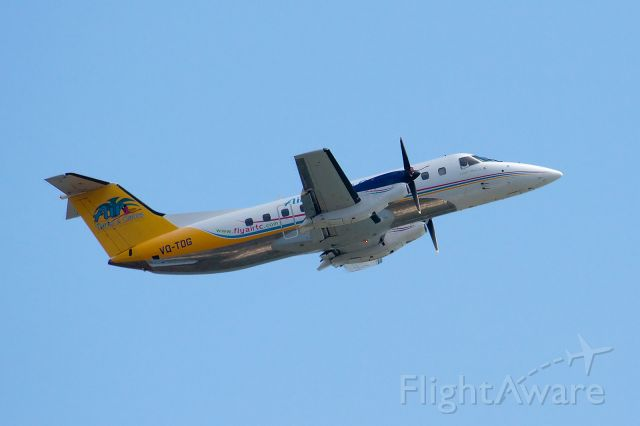 VQ-TDG — - Embraer Brasilia of Turks and Caicos Airlines lifting off at Jags McCartney Intl Airport, Grand Turk.