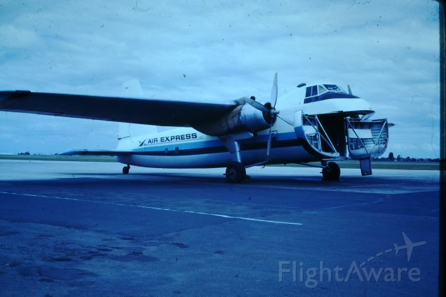 Cessna Conquest 2 (VH-SJQ) - Bristol freighter at Essendon after offloading a 5 ton load of crayfish from Flinders Island, circa 1972. This aircraft crashed into Bass Strait in May 1975 with the loss of both crew.