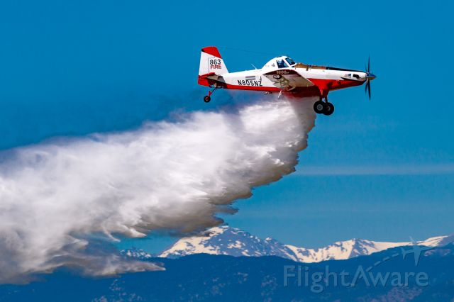 AIR TRACTOR Fire Boss (N805NZ) - Wildfire Air Tanker Demonstration and Display at KFNL.