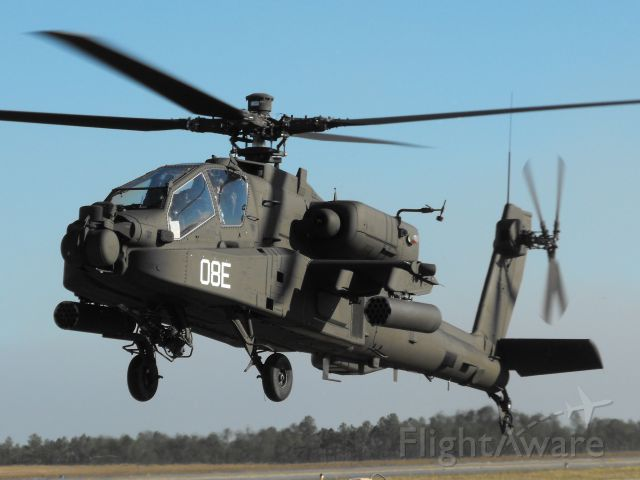 Boeing Longbow Apache (04-1008) - US Army Apache departing the pads.