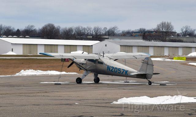 TEMCO Silvaire (N2057K) - Luscombe 8E Silvaire N2057K in Mason Jewett, Michigan