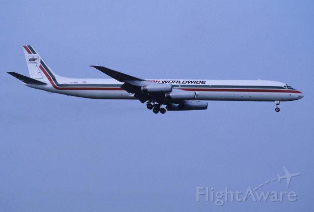 McDonnell Douglas DC-8-60 (N796AL) - Final Approach to Natita Intl Airport Rwy16 on 1990/06/24
