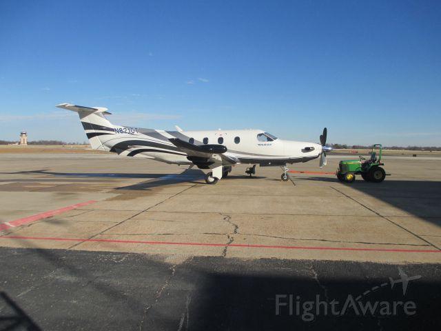 Pilatus PC-12 (N821CT) - Parked at Joplin ,January 2015.