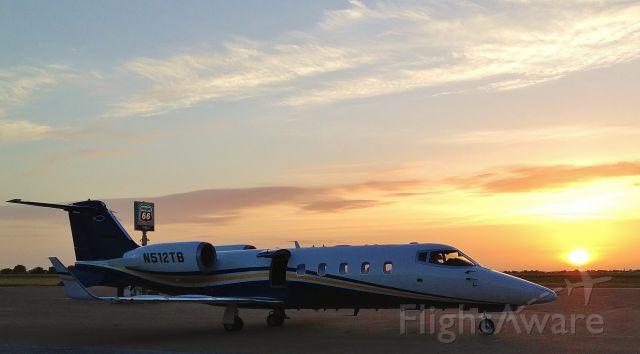 Learjet 60 (N512TB) - (KGLE) Gainesville, TX.  Early morn.