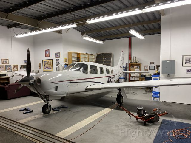 Piper Saratoga (N83KL) - In its hanger