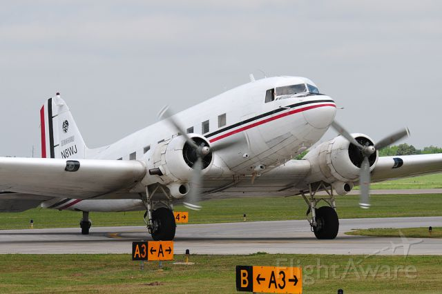Douglas DC-3 (N8WJ) - A great sight to see this classic up in the air. Formally 42-23414 while serving our country in the 1940s.