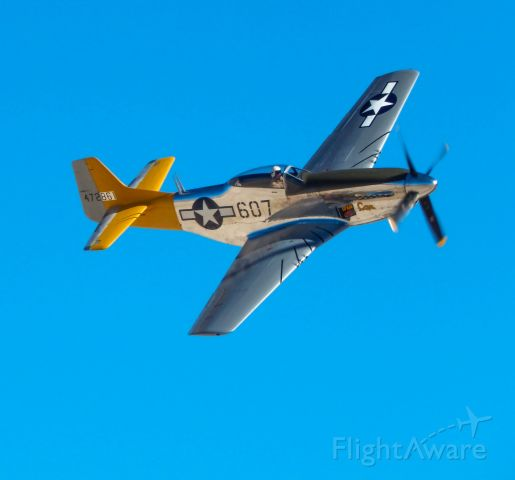 N5441V — - c/n 124-48335. US military serial 45-11582.br /North American P-51D Mustang '472861 / 607' 'Spam Can / Dolly' (N5441V)