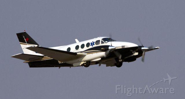 Beechcraft King Air 90 (N117MF) - Mercy Flights Beech C90 departs Siskiyou County Airport.