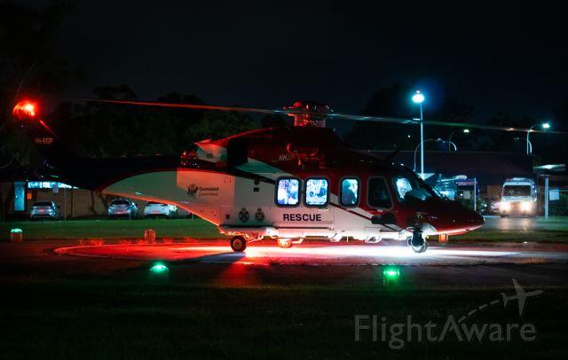 BELL-AGUSTA AB-139 (VH-EGF) - On arrival from Sunshine Coast Hospital