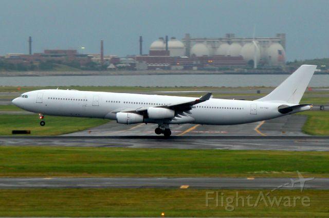 Airbus A340-300 (CS-TQZ) - Hi Fly, operating as Azores 281 arriving from Ponta Delgada