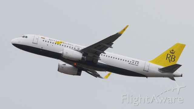Airbus A320 (V8-RBW) - Taking off from 02C
