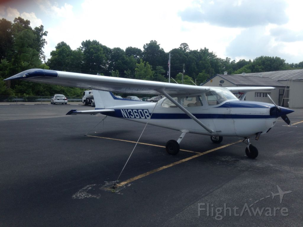 Cessna Skyhawk (N13608) - I took this picture of the plane that I fly for my private pilot certification. Cessna 172M N13608. At downtown island airport   It